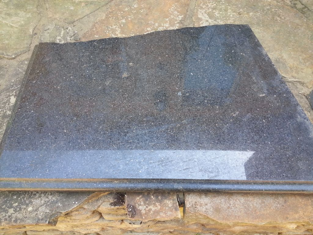 Broken Granite Countertop Upcycle Project Step 1