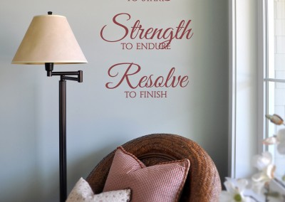 Courage - Strength - Resolve