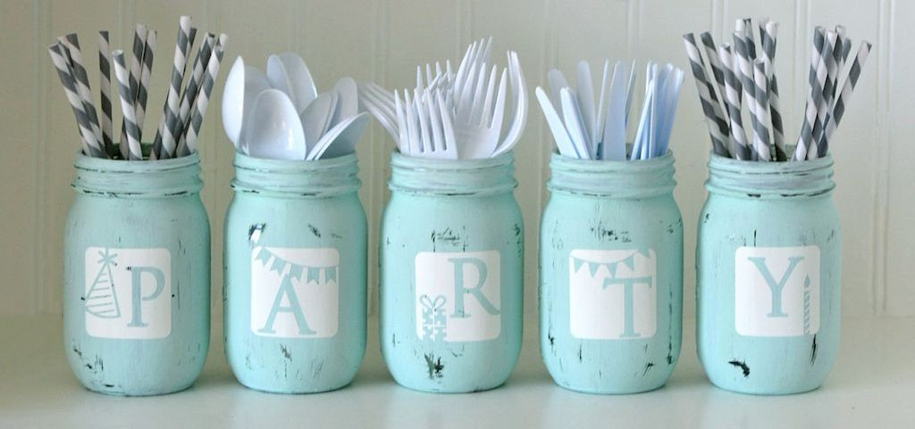 Distressed Mason Jar Project