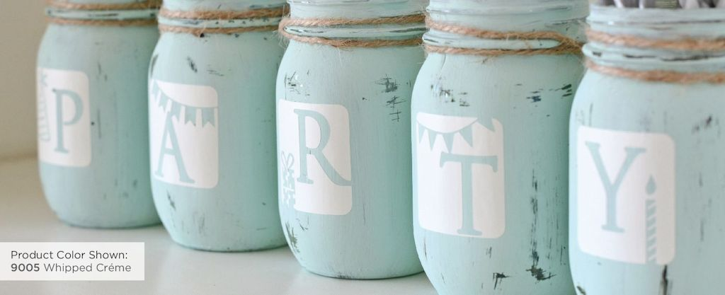 Distressed Mason Jar Project Detail