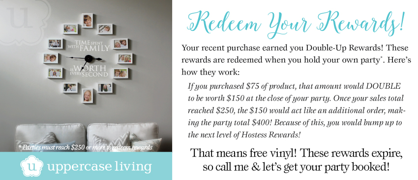 Uppercase Living Double-Up Rewards Explanation Graphic