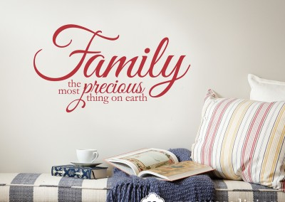 Family is the most precious thing on earth