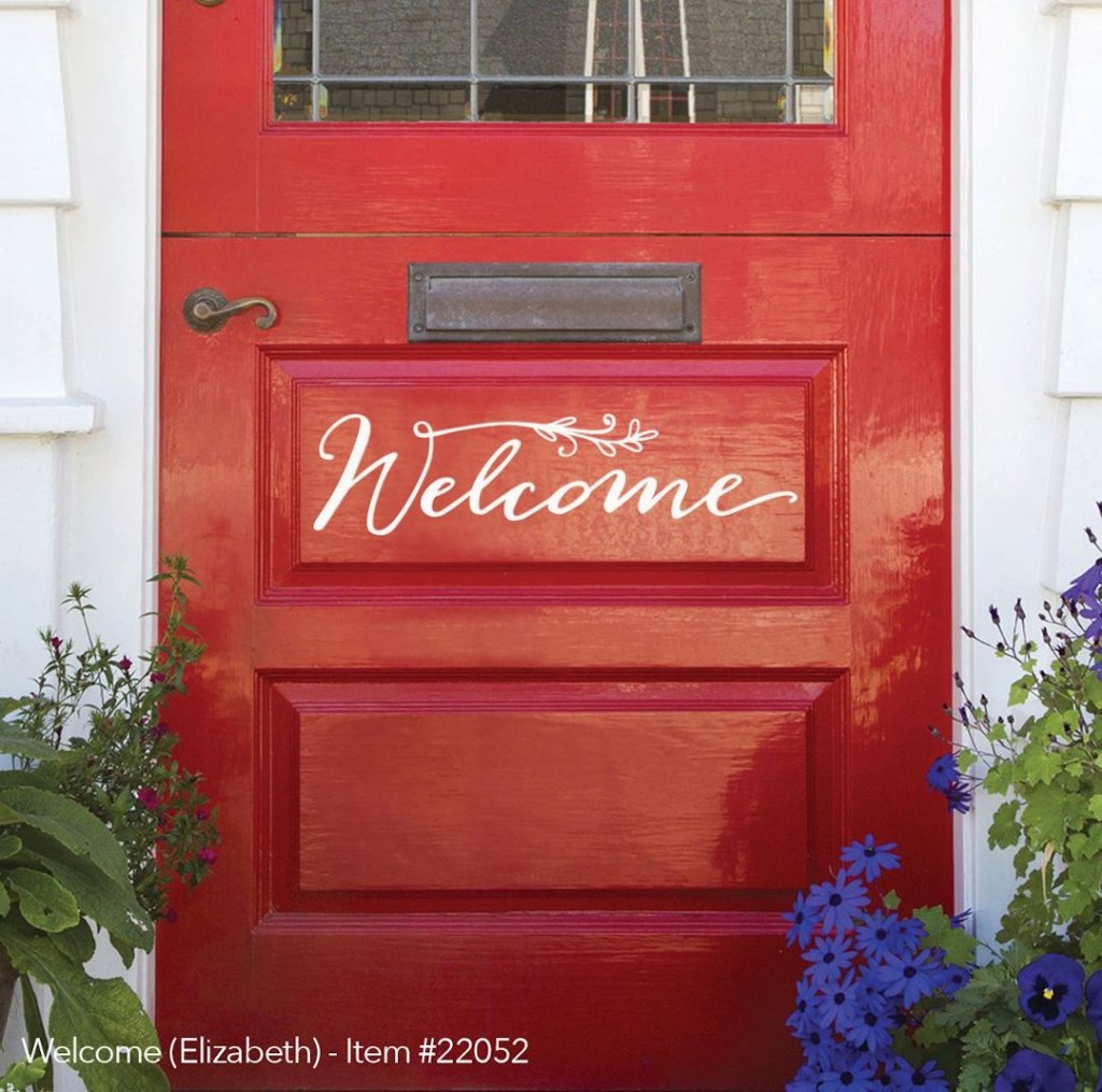 Front Door Welcome Sign Vinyl