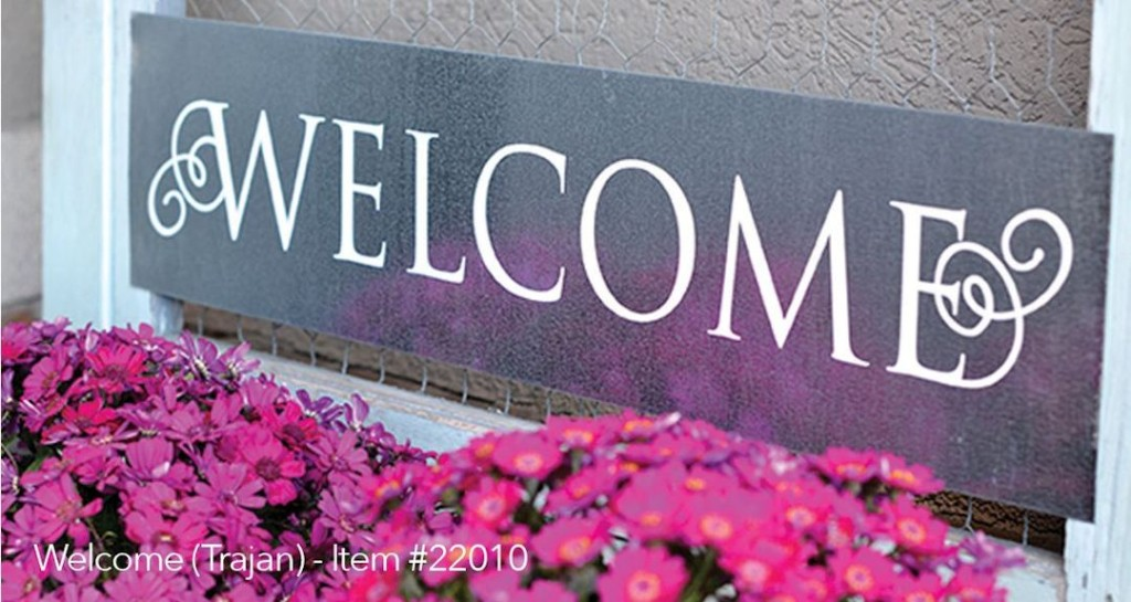 Front Door Welcome Sign Vinyl 3 & New Front Door Welcome Sign Expressions Available - Uppercase ... Pezcame.Com