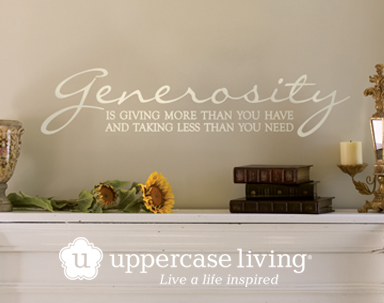 Generosity is giving more than you have and taking less than you need. #ULGenerosity