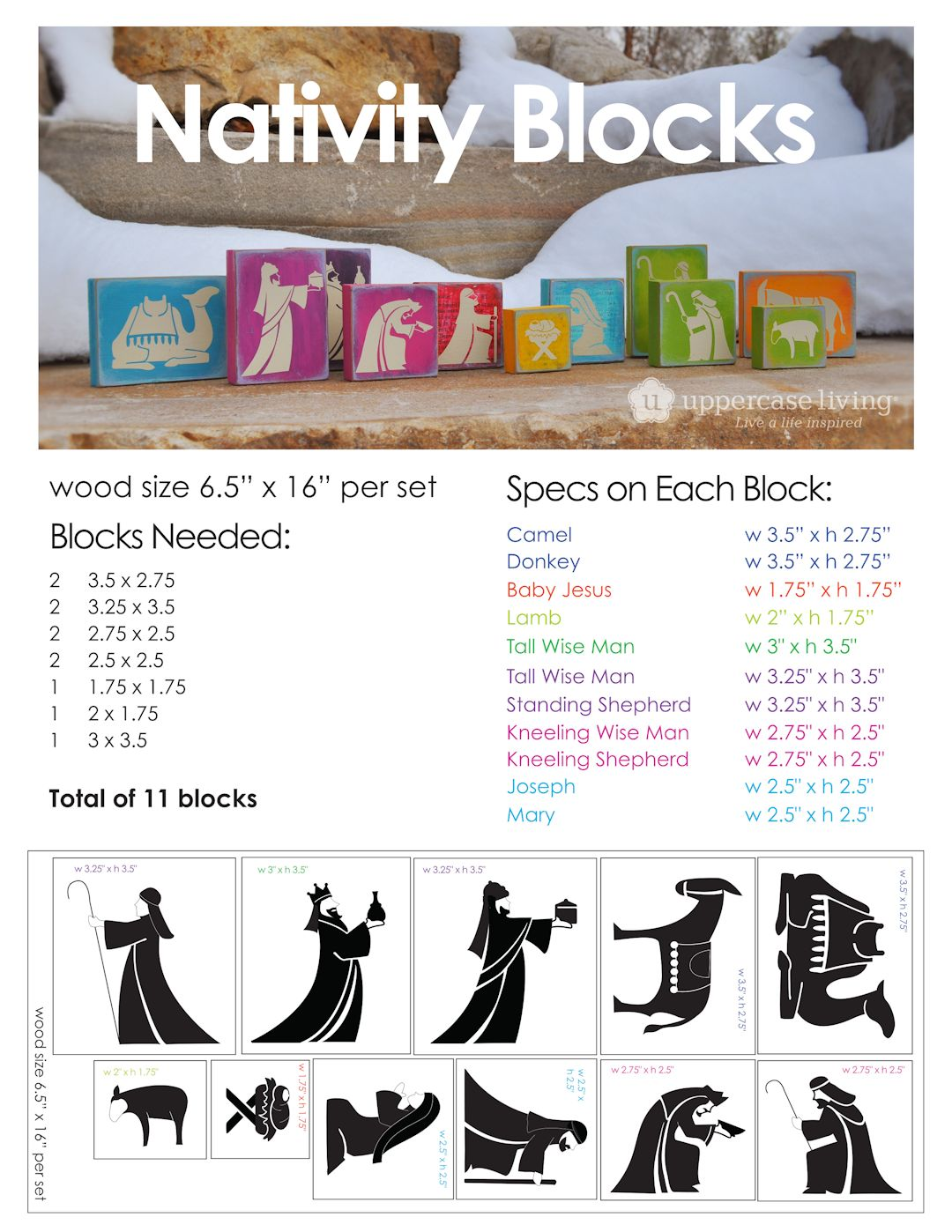 Nativity Blocks Project Instruction Sheet