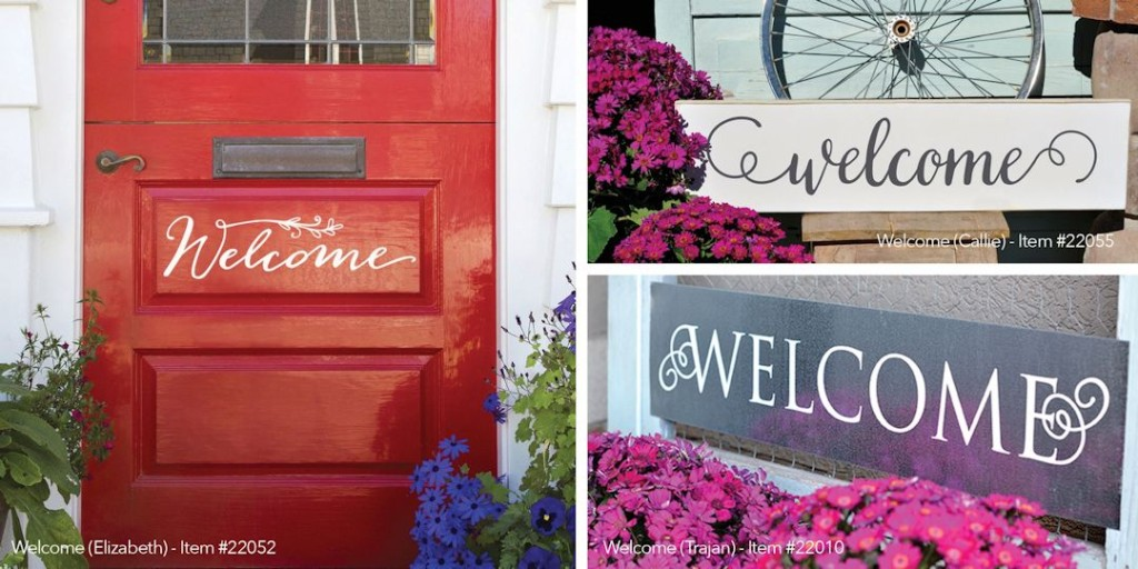 New Front Door Welcome Sign Vinyl Expressions & New Front Door Welcome Sign Expressions Available - Uppercase Living ...