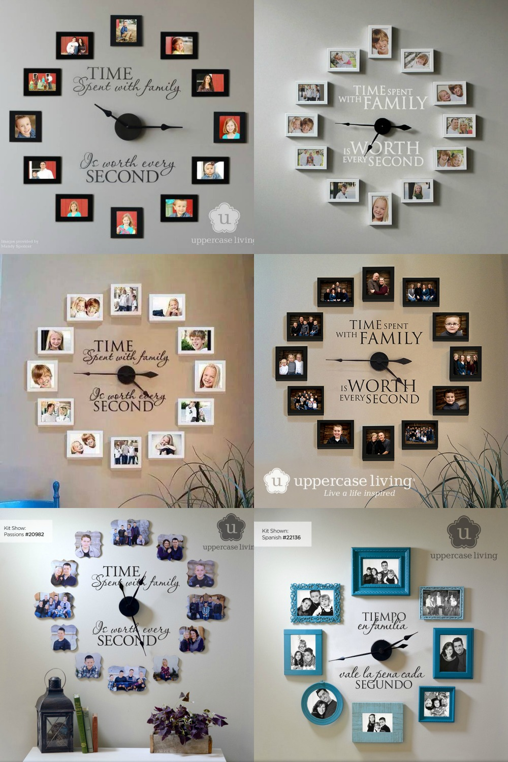 Time Spent With Family Is Worth Every Second - Photo Wall Clock