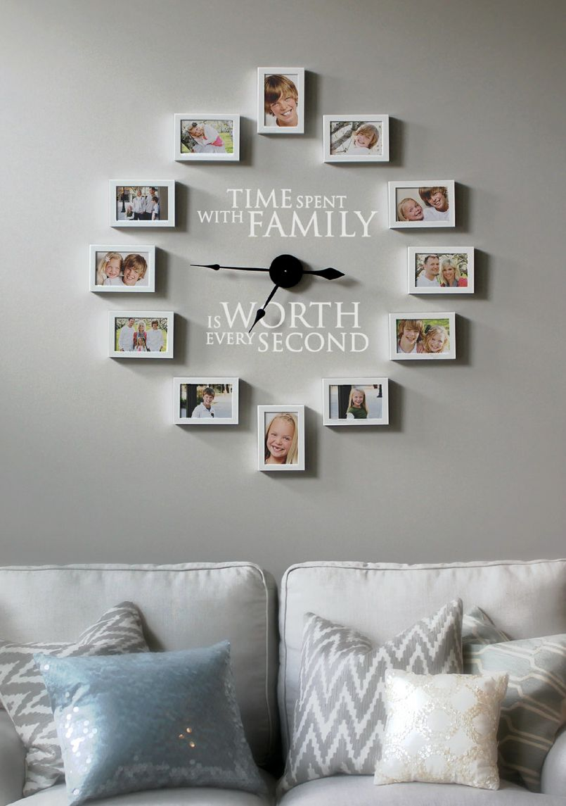How to Create a Photo Wall Clock - Time Spent with Family is Worth ...