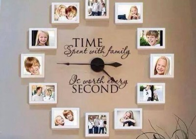 Time Spent With Family - White Frames