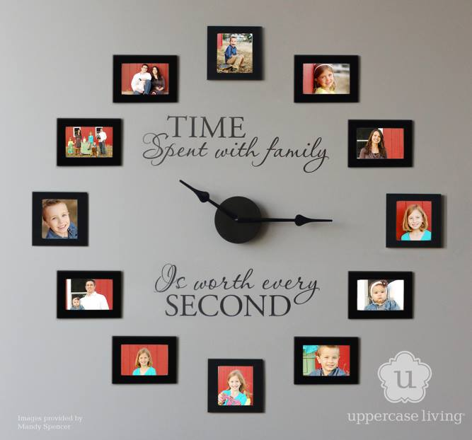 Time Spent with Family is Worth Every Second – Photo Wall Clock