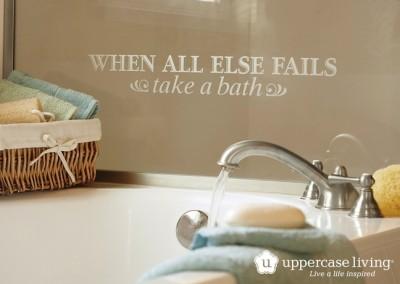 When All Else Fails Take A Bath